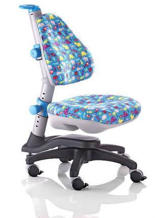 Дитяче регульоване крісло растишка трансформер Goodwin KY-318 BA (синій тварини), фото 2