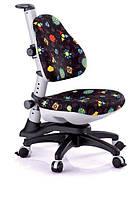 Детское регулируемое кресло растишка трансформер Goodwin KY-318 BL (черный с жуками)