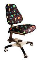 Детское регулируемое кресло растишка трансформер Goodwin KY-618 Black (чёрный с жуками)