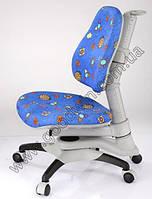 Детское регулируемое кресло растишка трансформер Goodwin KY-618 BL (синий c жуками)