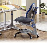 Детское регулируемое кресло растишка трансформер Goodwin KY-618 BF (сине-серый однотонный)