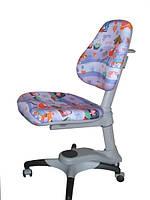 Детское регулируемое кресло растишка трансформер Goodwin KY-618 HG (фиолетовый с девочкой)