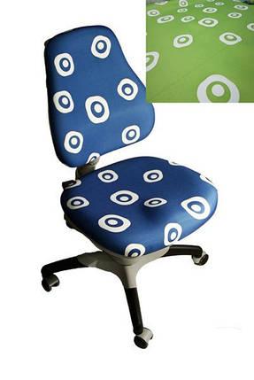 Дитяче регульоване крісло растишка трансформер Goodwin KY-618 Green circle (салатовий з білими колами), фото 2