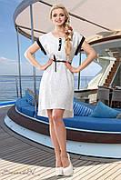 Летнее платье асимметричное из штапеля рукав летучая мышь 44-50 размеры