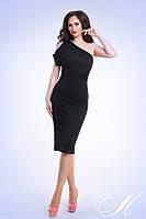 Платье Летнее коктейльное оголённое плечо цвет чёрный