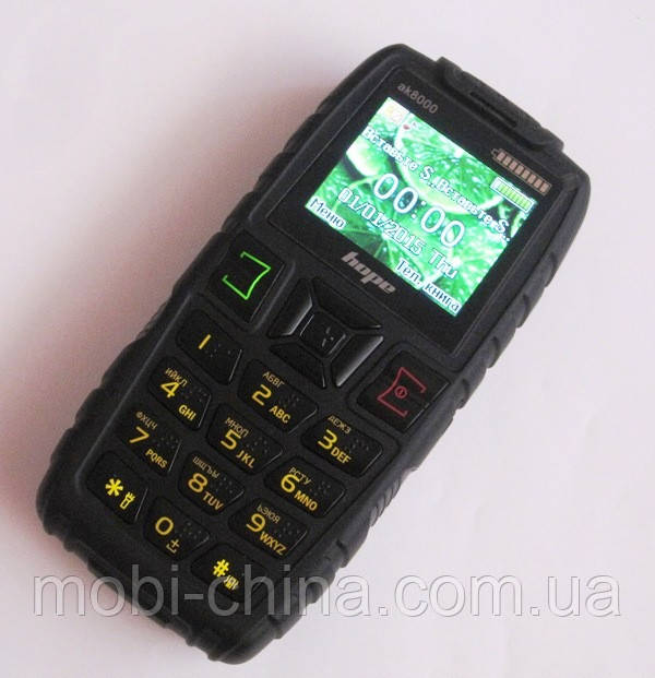 Телефон LAND ROVER  AK8000 (HOPE)  - 2 Sim (5000 mAh power bank), black