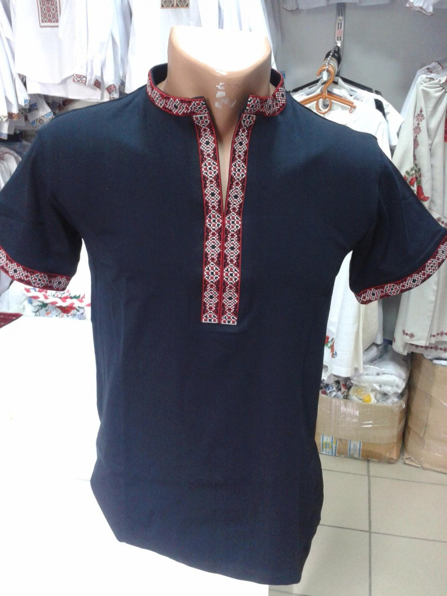 Чоловіча футболка вишиванка чорна №11ч  продажа 75d8a6f301f6b