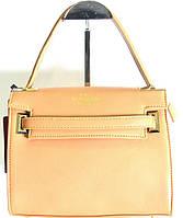 Брендовая маленькая женская сумка Valentino бежевая маленькая