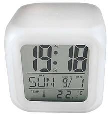 Годинник хамелеон з термометром будильник нічник.., фото 3
