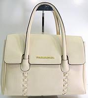 Брендовая женская сумка D&G Дольче Габбана бежевая