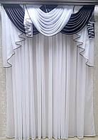 Ламбрекен Флоренция (для карниза 2м длиной) темно коричневый