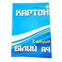 "Картон белый   А4 "" Тетрада "" 7 листов"