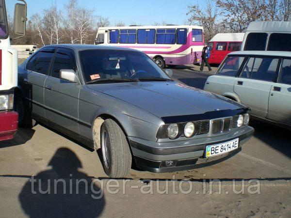 Мухобойка, дефлектор капота BMW Е34 1987-1995 (FLY)