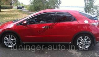 Ветровики, дефлекторы око Honda Civik hatchback 2006-2012