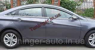 Ветровики,дефлекторы окон Hyundai  Sonata YF 2009-