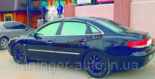 Ветровики, дефлекторы окон Hyundai Grandeur 2005-2011(Autoclover/Корея/A095)