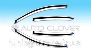 Дефлекторы окон(Ветровики) Kia Ceed  2007-2011 хромированые
