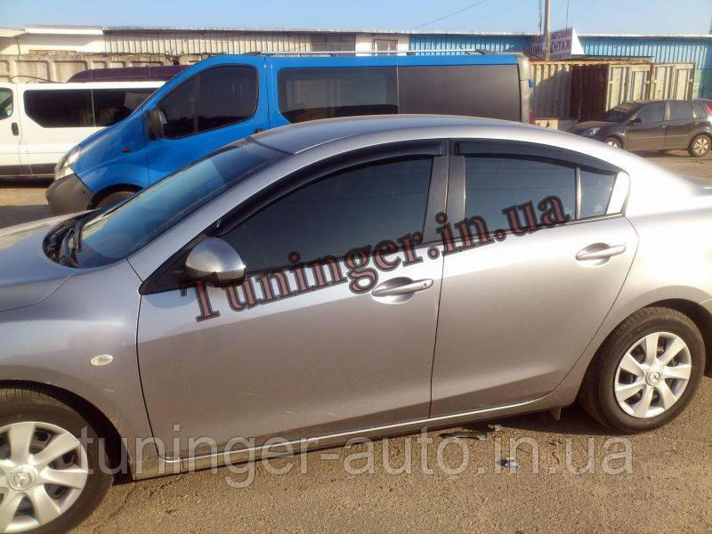 Ветровики, дефлекторы окон Mazda 3 sedan 2009->