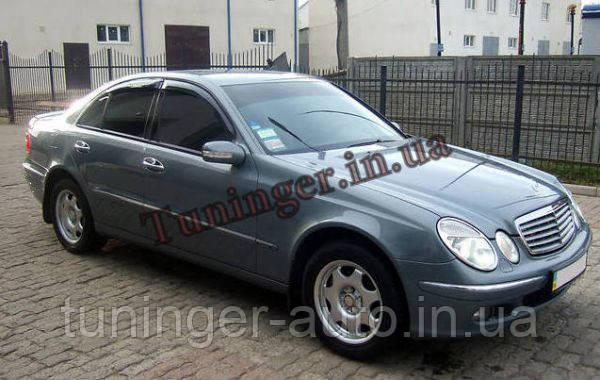 Ветровики, дефлекторы окон Mercedes W211 2003-2009 (Hic)