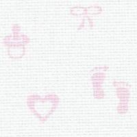 Baby-Aida 14 Zweigart  35х50см молочный розовый