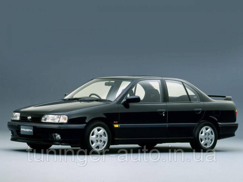 Ветровики, дефлекторы окон Nissan Primera P-10 1990г.-1995г. (Hic)