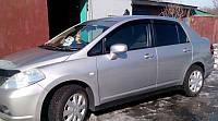 Ветровики, дефдекторы окон Nissan Tiida sedan 2004- (Hic)