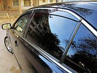Ветровики,дефлекторы окон Toyota  Camry 40 2006+  C хромированой полосой