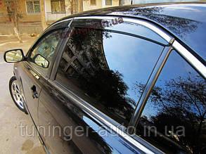Ветровики, дефлекторы окон Toyota  Camry 40 2006+  C хромированной полосой
