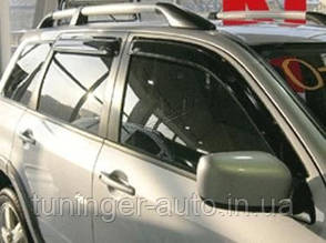Ветровики, дефлекторы окон Mitsubishi Outlender 2003-2008 (Hic)