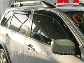 Ветровики, дефлекторы окон Mitsubishi Outlander 2003-2008 (Hic)