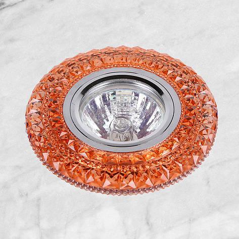 Точечный врезной светильник с подсветкой LED (16-В209), фото 2