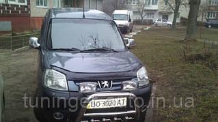 Мухобойка, дефлектор капота Peugeot Partner 2003-2008 (Vip)