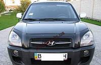 Мухобойка, дефлектор капота Hyundai Tucson 2004-2011 (Vip), фото 1