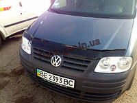 Мухобойка, дефлектор капота Volkswagen Caddy 2003-2010 (Fly)