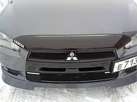 Мухобойка, дефлектор капота Mitsubishi Lancer X 2007-2010 (Sim)