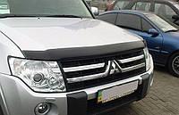 Мухобойка, дефлектор капота Mitsubishi Pajero Wagon 2007+ (Sim)