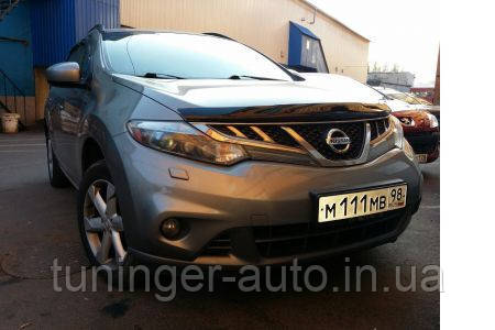 Мухобойка, дефлектор капота Nissan Murano 2008- (Hic)
