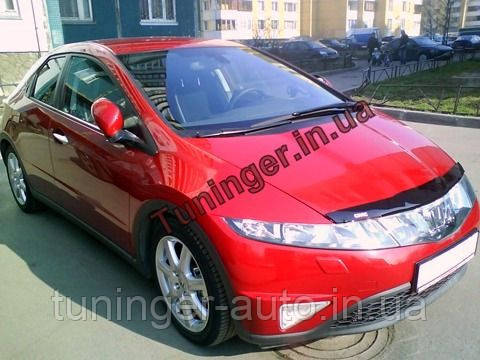 Мухобойка,Дефлектор капота Honda Civik HB 2006-2011