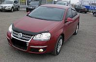 Мухобойка, дефлектор капота Volkswagen Jetta/Golf 5 2006-2010гг. (Sim)