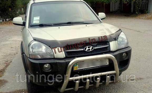 Мухобойка, дефлектор капота Hyundai Tucson 2004-2008 (EGR)