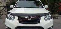 Мухобойка, дефлектор капота Hyundai Santa Fe 2006-2012