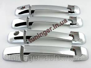 Хром-накладки на ручки Kia Sorento 2002-2009 (Autoclover/Корея)