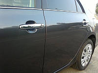 Хром-накладки на ручки Toyota Corolla 2008+