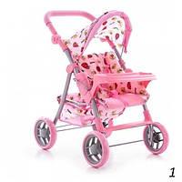 Игрушка коляска для кукол Melogo 9337E-T, регулируемая ручка, корзинка, столик, 68*63*39 см