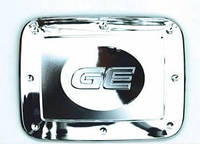 Хром-накладки на лючок бензобака  Chevrolet Aveo II 2005-
