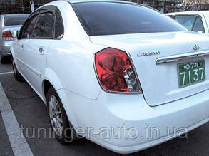 Хром-накладки на заднюю планку номера Chevrolet Lacetti