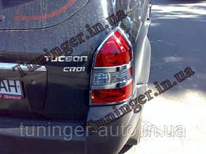Хром накладки на стопы Hyundai Tucson Хром 2004-2012