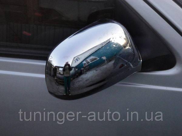Хром накладки на зеркала Daewoo Nexia 1986- (Autoclover A758)