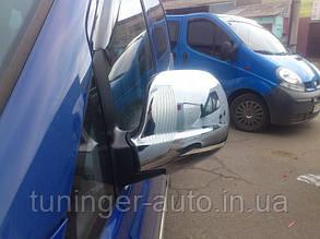 Хром накладки на зеркала Mercedes Vito W639 2003-2010 (Пластик/Турция)