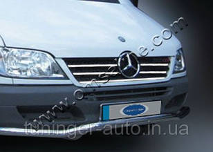 Хром-накладка на решетку радиатора Mercedes Sprinter 2002-2006